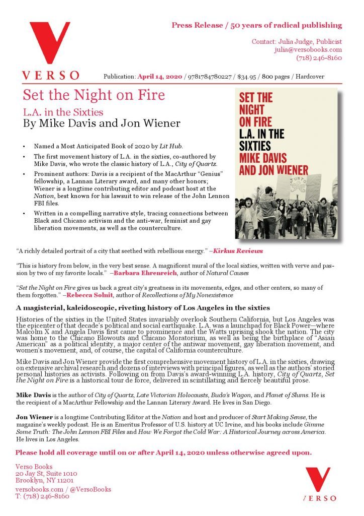 Set the Night on Fire Press Release