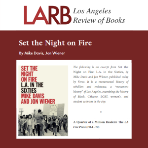 Set the Night on Fire: L.A. in the Sixties Excerpt in LARB