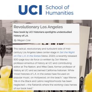 Jon Wiener profile at UCI School of Humanities