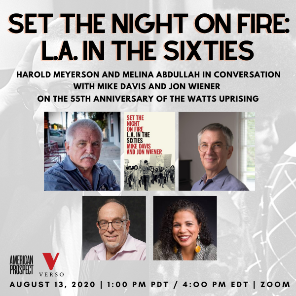 Set the Night on Fire: L.A. in the Sixties event with American Prospect