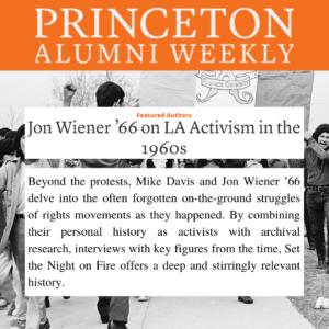 Jon Wiener '66 on LA Activism in the 1960s